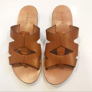 M Gemi Arezzo Leather Slide Sandal Luggage